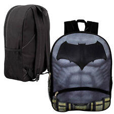 "16"" Large Backpack BATMAN LOGO Kids Boys School bookBag w/ Front Pencil Pocket"