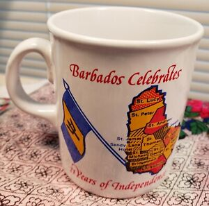 Barbados Souvenir Cup / Celebrating 21 Years of Independence / Made In England