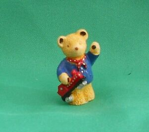 Upcott Teddy Bear figurine Train Driver  *New in Box