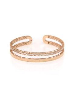 Roberto Coin Symphony Princess 18K Rose Gold Diamond 0.64ct Bracelet