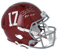"""TUA TAGOVAILOA Autographed Alabama """"Roll Tide"""" Full Size Speed Helmet FANATICS"""