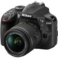 Nikon D3400 + AF-P 18-55VR Black Digital SLR Camera and Lens Kit - Black New