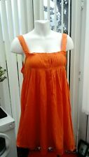 """angel eye"" bright orange ladies top/ short dress cotton freesize"