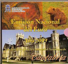 ESPAÑA 2009 CARTERA EUROS CANTABRIA OFICIAL FNMT