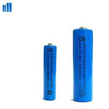 2 AAA 2 AA 1800mAh 3000mAh Ni-MH rechargeable battery Solar Light MP3 RC Blue
