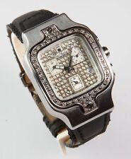 JOE RODEO Mens Heavy S/S Chronograph Diamond Watch NEW