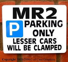 MR2 car Parking Sign for toyota mr-2 mr 2 turbo gift/Present for Project