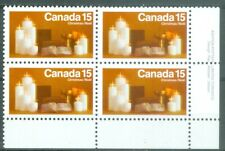 New Listing1972 Canada Christmas 15¢ Blk of 4 Lr Uni#609