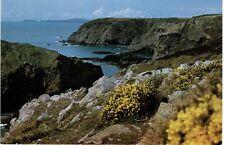 1980s UK Postcard - View from Solva towards Ramsey Island, Pembrokeshire