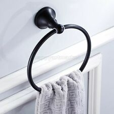 Oil Rubbed Bronze Round Bathroom Towel Ring Rack Holder Wall Mount