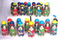Boys Funky Personalised Named Metal Silicone Drinks Bottle Flask Cup w Keyring