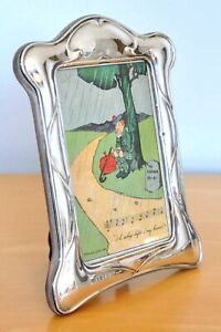 Lovely Vintage Hallmarked Silver Fronted Photo Frame Art Nouveau Design 1961