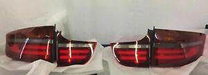 NEW GENUINE EU BMW X6 E71/E72 07/14 BLACK LINE REAR TAILLIGHTS SET 63212326585