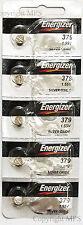 5 pcs Energizer 379 Battery SR521SW SR521 Silver Oxide