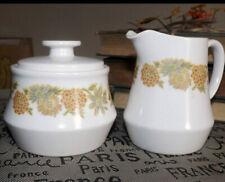 Vintage Noritake Progression Sunny Side Creamer & Sugar Bowl w/ Lid 9003 Japan