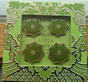Anna Griffin Decorative Enamel Push Pins Green Elegant Crafts and Gifts