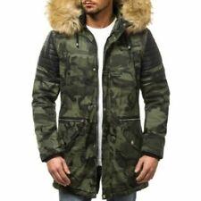 Cappotti e giacche da uomo parke verde con cerniera