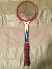 Vintage Spalding WoodenStar Doris Hart Tennis Racquet with wooden cover