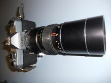 Vintage Yashica TL-ELECTRO Camera 200 mm Lens  Auto Promaster Zoom NO. 751535