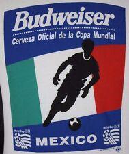 VTG Medium Budweiser Cerveza Oficial 1994 Copa Mundial T-Shirt Mexico Futbol