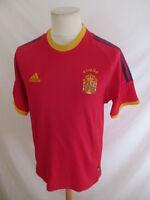 Maillot de football vintage équipe d'Espagne Antonio Adidas Rouge Taille M
