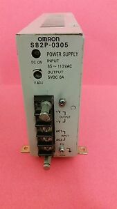 OMRON S82P-0305 POWER SUPPLY S82P0305 110V output 5vdc 6a tested