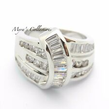 NEW CHANNEL SET ROUND CUT CZ CUBIC ZIRCONIA FASHION RIGHT HAND RING SIZE 10