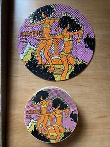 "Vintage Springbok Zany Zodiac Aquarius Circular Circle Jigsaw Puzzle 7"" Round"