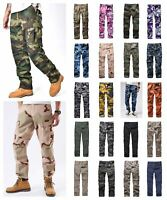 Mens Military Combat Army BDU Pants Casual Work Camp Camouflage Cargo Pants