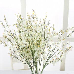 Gypsophila Silk Fake Flowers Orchid Faux Autumn Wedding Artificial Bouquet Decor