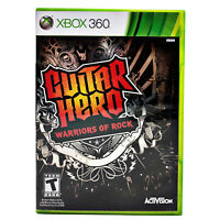Guitar Hero: Warriors of Rock Xbox 360 Complete w/Manual Tested Clean Disk