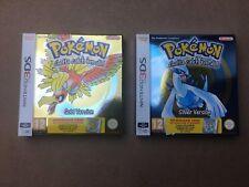 Pokemon plata y cajas de Coleccionistas de Pokemon Gold-Nintendo 3 DS + códigos de descarga