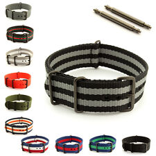 Military Nylon Watch Strap Band Waterproof PVD Buckle 18 20 22 24 Nato G10 MM
