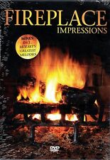 FIREPLACE IMPRESSIONS: VIRTUAL CHRISTMAS HOLIDAY DVD w/ SOUNDS & MOZART MELODIES