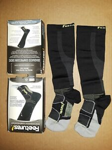 Feetures Graduated Compression Socks SMALL (Women shoe size 4-7) BLACK NEW