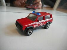 Matchbox Jeep Cherokee Fire Chief in Red/Black
