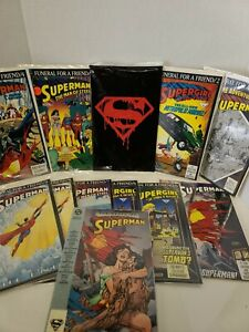 Death Of Superman Funeral For A Friend Comic Lot
