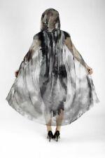 Tul Capa capucha negra VERDE TRANSPARENTE VAMPIRO Gothic, Mujer 110 cm
