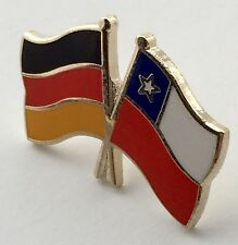 Germany & Chile Friendship Flags Gold Plated Enamel Lapel Pin Badge
