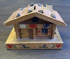 New ListingHandmade Vintage Folk Art Wooden Log Cabin Coin Bank Hidden Opening