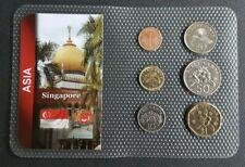 SINGAPOUR - SINGAPORE - SET DE 6 MONNAIES DE SINGAPORE DATES DIVERS.
