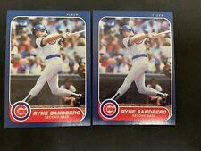 2 1986 FLEER #323 Ryne Sandberg Chicago Cubs HOF
