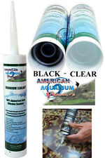 Silicone Aquarium Sealant Clear or Black 10.2 oz, Fda Approved Fish Safe Asi/Aap