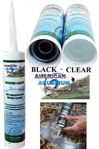 Silicone Aquarium Sealant Clear or Black 10.2 oz, FDA Approved Fish Safe ASI/AAP