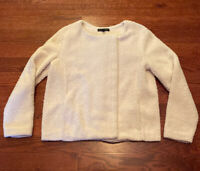 Banana Republic Women's Size Medium Ivory Cream Sherpa Fleece Jacket