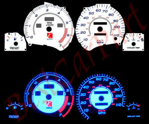 95-97 Saturn 1.9L SOHC BLUE INDIGLO GLOW WHITE GAUGES