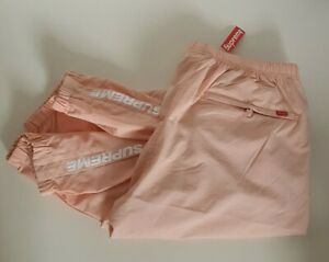 New with tag FW17 Supreme Warm Up pants peach pant size L large