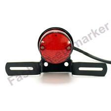 Motorbike Round 12V LED Stop Tail Rear Brake Light For Cafe Racer Bobber Chopper