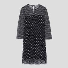 NEW ZARA LIMITED EDITION CONTRASTING DRESS REF 7521/322 VESTIDO COMBINADO NEGRO