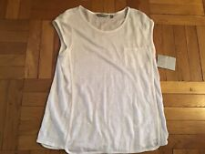 ATHLETA Linen Newport Tee, NWT, Large Bright White, Cool for Summer!